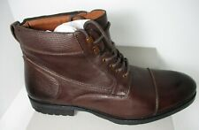Kenneth Cole Reaction Men's Brewster Boot B Lace Up Brown Leather Size 12 M New