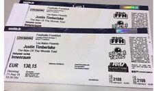 2 Tickets für das Justin Timberlake Konzert in Frankfurt/Festhalle am 21.08.2018