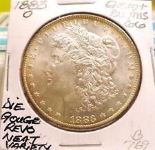 1883-O MORGAN SILVER DOLLAR GEM+ BU/MS, DIE GOUGE REVS, SPIKED WINGS NEAT B769