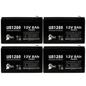 4x 12V 8Ah Sealed Lead Acid Battery For APC SMART-UPS XL 2200VA RM 3U
