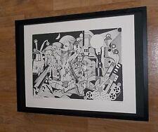 Mondo Di Notte - Elsa Zaccarin  -50''x70'' frame, abstract wall art