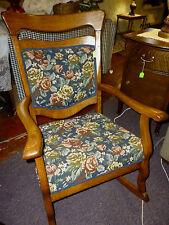 antique Oak Chair rocking arm rocker Quarter Sawn Oak refinished, restored