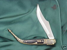 "NEW CUSTOM POCKET KNIFE. Spanish style Navaja 5"" Buffalo Horn Handles"