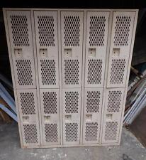 Vintage Industrial Steel Gym Locker Unit Pool Steampunk 10 Doors Old 3191-14