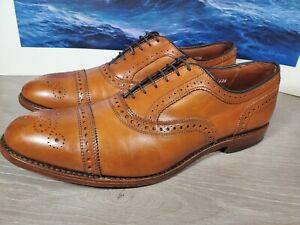 Allen Edmonds Strand Men's Bourbon Brown Leather Cap Toe Oxfords Shoes Size 12 D