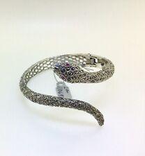 Marcasite 925 Silver Wrap around your Wrist Snake Form Bracelet