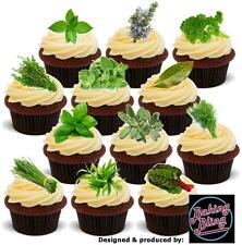 NOVELTY Fresh Herbs Party Pack Mix Edible Cake Cupcake Toppers Decorations Mint