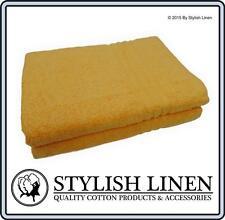 Bath Towels Towel 2 Piece Set Pieces Sets 100% Cotton New 550GSM Mango-Orange