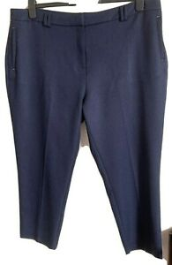 Dorothy Perkins Size 20 Navy Crop Trousers -(C62)