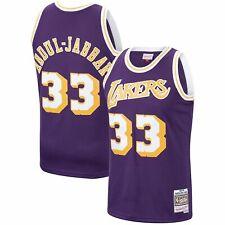 7151d0151a7 Los Angeles Lakers Mens Jersey Mitchell   Ness  33 Kareem Abdul Jabbar  Purple
