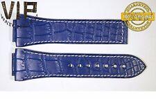 NEW OEM Authentic JORG HYSEK strap 28 mm Genuine alligator dark blue color