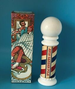 Vintage Avon BARBER POLE Wild Country After Shave 3oz Bottle w/Box 1/4-Full
