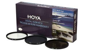 Hoya 52mm Digital Filter Kit II - Slim UV, Cir-PL, ND8 Filters & Case HK-DG52-II