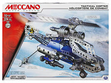 MECCANO TACTICAL ELICOTTERO 370 pezzi SPINMASTER codice 15302 6024816 -nuovo- IT