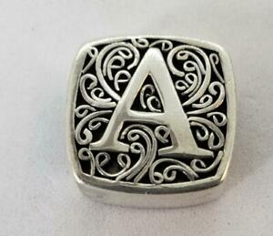 Bonn Bon Authentic Sterling Silver Letter A Alluring Slide Charm Lori Bonn Jewel
