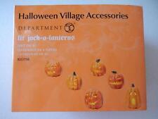 Department 56 (NEW) Halloween Lit Jack-O-Lanterns #810798 (Free Shipping)