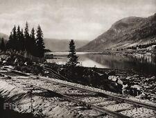1924 Vintage SCANDINAVIA Photo Art Norway Halling Valley Railway Track Landscape
