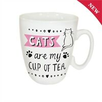 CATS ARE MY CUP OF TEA Mug  FREE Gift Box - Great Gift for Cat Lovers - Free P&P