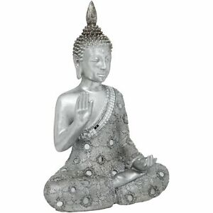 LARGE 11 INCH / 28CM OVERCOMING FEAR DECORATIVE BUDDHA BUST ORNAMENT
