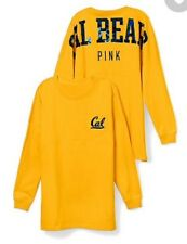 Victoria's Secret PINK Univ of Calif. Berkeley LG Sequin Varsity Crew T-shirt