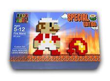 Custom LEGO Fire Mario Building Set - WITH Instructions to Build (Custom Set)