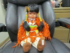 Traditions Doll Collection Native American Indian Porcelain Doll Aquene 22''