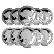 Lot of 10 - 1 oz Buffalo Stackable Silver Round .999 Silver