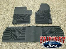 06 07 08 09 10 Super Duty F250 F350 OEM Ford Rubber Floor Mat 3-pc Crew Cab
