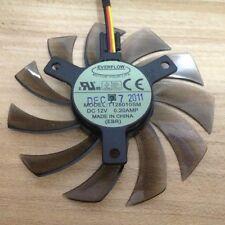 NEW 75mm 12V 0.2A 3pin T128010SM  Fan VGA  Video card GTX670 GTX580 560ti