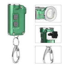 Mini CREE LED Flashlight Micro Keychain Key Ring Bright Torch USB Rechargeable