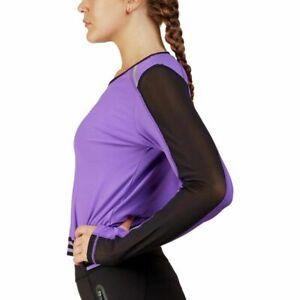 WOMEN sz SML Stretch SHIRT Top WORKOUT Sports FITNESS Yoga ATHLETIC Mesh RUN Gym