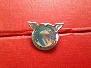 Rare Vintage Football Badge Manchester City Wings
