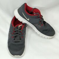 Nike Boys Athletic Tennis ShoeSize13.5C Gray White Sneakers Lace Up Youth