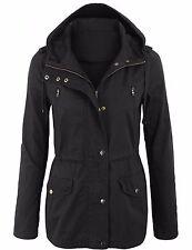 Women's Military Anorak Safari Jacket with Pockets and Hood Coats S-3X