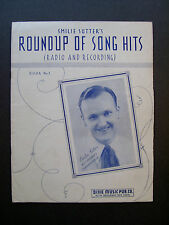 Smilie Sutter's Roundup Of Song Hits (Radio And Recording) Book No. 1 Songbook