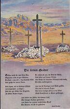 uralte AK, Deutsche Soldatengräber in Südwestafrika mit Gedicht