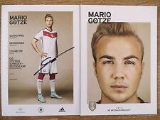 Handsignierte AK Autogrammkarte *MARIO GÖTZE* DFB WM 2014 Weltmeister 4 Sterne