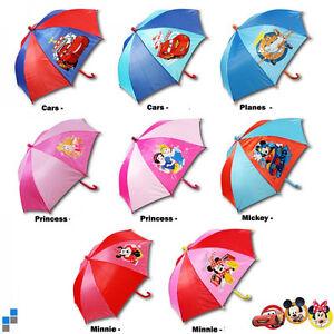 Disney Kinder Regenschirm 37 cm Schirm NEU Cars Princess Mickey Minnie Mouse