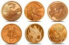 World Dragons Aztec Welsh Chinese Norse Indian Egyptian 1oz Copper Round Coins