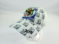 FIFA World Cup 2010 South Africa Hat Adult Adjustable White Soccer Futbol