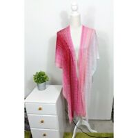 Missoni Women's NWT Fringed Ombre Pink Chevron Cape One Size