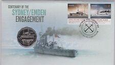 2014 Centenary Sydney / Emden Engagement PNC Navy Military WWI Ships Maritime
