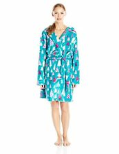 NEW NWT HATLEY BLUE HOUSE ADULT ROBE PATTERNED TREES Medium