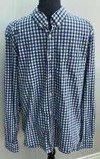 Men's Shirt Size L Blue White H&M Checked <MM1077