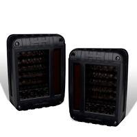 Fit 07-17 Jeep Wrangler JK (US Model Only) Bar Led Tail Lights Black/Smoke Lens