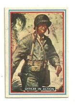 Topps Marines in the Pacific WWII Card 27 Number 6 25 Officer in Action