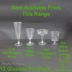 Plastic Wine Glasses Clear Party Drink Champagne flute Martini Coupe Goblet Cup