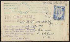 TONGA 1938 TIN CAN MAIL NIUAFOOU ISLAND COVER TO ACKLAND NZ