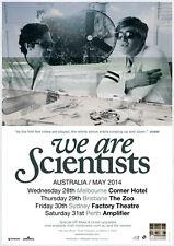 WE ARE SCIENTISTS 2014 Australian Tour Poster A2 TV En Francais Barbara **NEW**