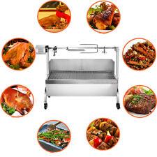 60kg Hog Roast Machine Spit Bbq Pig Roaster Stainless Steel Rotisserie Roas 89Cm